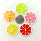 35mm Glitter Summer Citrus Lemon Fruit Slice  Resin Pendants Charms - 10pcs