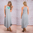 Maternity Maxi Dress Summer Pregnant Women's Striped Long Dresses Loose Clothing