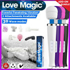 30 SPEED Magic Wand Personal Massager Vibrator C-TICK with Head ATTACHMENTS