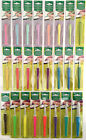 Clover Amour Soft Touch Crochet Hook Coloured All Sizes 0.6mm to 15mm Knitting