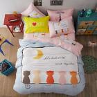 New Cute Cat Home Decor Bedding oAUl Duvet Cover teenager's Queen All Sizes Gift