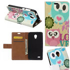 JL Pattern Leather Wallet ID Card Case Stand Skin Cover For HTC Meizu Phone