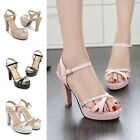 Women's Strap Stiletto Classics Pumps Platform Shoes High Heels Open Toe Sandals