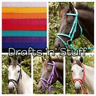 ALL COLORS NYLON WEB HORSE BRIDLE & REINS XXF DRAFT CLYDESDALE SHIRE PERCHERON