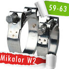 59-63mm | Mikalor W2 | Stainless | QTY 1-5-10 | Hose Clip | Exhaust Clamp |
