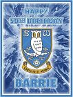 Sheffield Wednesday personalised fondant icing edible photo cake topper (SP36R)