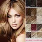 """One Piece Clip In Remy 100% Natural Human Hair Extensions Full Head 16""""  80G"""