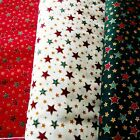 Christmas Fabric SPECIAL OFFER   {STARS}    **Only £2.50 per Metre**