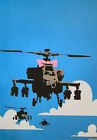 Banksy Happy Choppers Helicopter Art Poster A4 A3 A2 A1 Gift Present OC0156