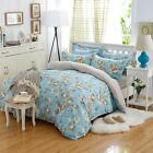 Single Queen King Size Bed Set Pillowcase Luxury Quilt Duvet Cover oAUl Floral h