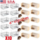 LOT 10 Animal Trap Humane Large Steel Cage Rodent Spring Loaded Raccoon Mice VP
