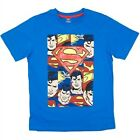 NEW Boys Genuine Licensed Blue Superman Casual T-Shirt - Size 12