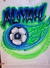 Custom Airbrushed Soccer, Futbol Shirt With Name (Sizes 6 months - Adult 5XL)