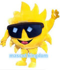 High Quality With Sunglasses Cartoon Fancy Dress Adult Mr Sun Mascot Costume