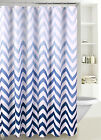 Внешний вид - Fabric Shower Curtain Ombre Zig Zag Chevron Print with Reinforced Grommet, SC-02