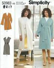 Simplicity 8217 Misses'/Miss Petite Lined Coat or Vest   Sewing Pattern