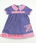 Girls LIL CACTUS boutique dress 2T 3T or 4T NEW USA flag July 4th patriotic blue