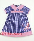 Girls LIL CACTUS boutique dress 2T 3T NEW USA flag July 4th patriotic blue red