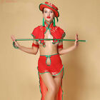 Women Sexy Exotic Lingerie Glamour Fancy Shawl Long Skirt G-string Suit Costume