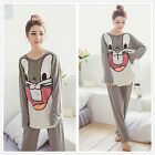 Big Rabbit Women Sleepwear Pajama Set Nightwear SleepShirt & Pants M-2XL
