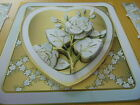 Handmade Card Topper or Popout Card.Wedding or Anniversary GOLDEN HEART & FLOWER