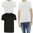 Brave Soul Mens Chan T Shirt Designer All Over Chinese Symbol Print Cotton Top