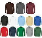 Herren Winter Polo Shirt Langarm Poloshirt Pique