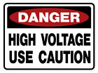 DANGER HIGH VOLTAGE OSHA DECAL  TWO DIFFERENT SIZES (2)