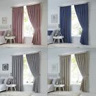 Darling Plain Blackout Curtains Ready Made Modern Pastel Shade Pencil Pleat Pair