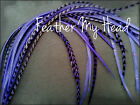 Feather Hair Extensions 5 Pc 7-9 In (18-23cm) Lilac Purple