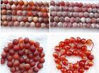 ukcheapest-red striped banned agate round,faceted 4 6 8 10 12mm gemstone beads