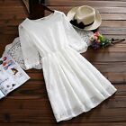 Mori Girl Lace Hollow summer Dresss fresh Elegant Slim Student skirt
