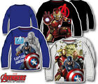 Avengers Long Sleeve Top T-Shirt Boys Top Age 3-10Y Official Licensed Character