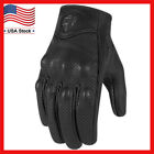 Leather Motorcycle Gloves Non Perforated Pursuit Street Stealth Black M/L/XL NEW