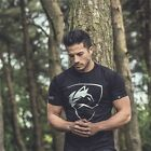New Forest Wolf Men's Gym Cotton T-Shirt Sport Fitness Bodybuilding Muscle Tee