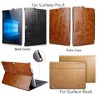 ICARER Genuine Leather Back Folio Stand Cover Case for Surface Book / Pro 4