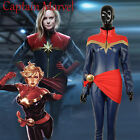 Captain Marvel Ms. Marvel Cosplay Costume Carol Danvers PU Leather Suit Custom