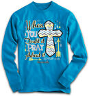 """REDUCED!!!! """"Pray About It"""" Kerusso Cherished Girl Turquoise Long Sleeve T-Shirt"""