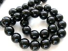 ukcheapest-black onyx agate round faceted 4 6 8 10 12 14 mm gemstone beads
