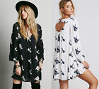 Vintage Style Embroidered Women's Extra Large Summer Beach Loose Fit Swing Dress
