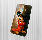 for iPhone & Samsung Galaxy Leather Flip Case-Mickey Mouse