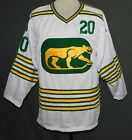 CUSTOM NAME  CHICAGO COUGARS WHA RETRO HOCKEY JERSEY WHITE SEWN NEW ANY SIZE