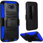 For LG X Power 2 Fiesta Rugged Armor Hybrid Tough Holster Clip Stand Case Cover <br/> LG X Power 2, LG Fiesta LTE, LG X Charge, LG LS7 4G