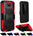 For LG X Power 2 Fiesta Rugged Armor Hybrid Tough Holster Clip Stand Case Cover