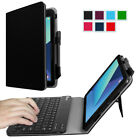 "Samsung Galaxy Tab S3 9.7"" Case Stand Cover with S Pen Holder Bluetooth Keyboard"