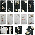 For LG Phone Bling Crystal Rhinestone Diamond Wallet Leather Case Cover Skin TY
