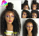 Glueless Brazilian Human Hair curly  Lace Front Full Wig ...