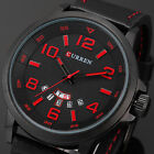 CURREN Men's Fashion Leather Band Date Display Analog Quartz Sport Wrist Watch P