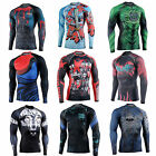 Mens GYM Compression Under Base Layer Tight Tops Sports T-Shirts Athletic Wear