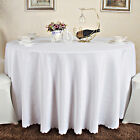 10x90 Inch White/Black Round Tablecloth Table Cloth Wedding Party Banquet UK
